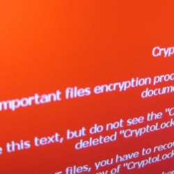 Mensaje de aviso de un ransomware